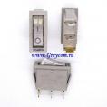 KCD3 выключатель одноклавишный с подсветкой для мультиварок, рисоварок и др. (цвет корпуса-серый, цвет клавиши-серый) 16А 250В