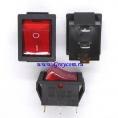 KCD4 выключатель одноклавишный с подсветкой для сетевых фильтров (цвет корпуса-черный, цвет клавиши-красный) 15А 250В