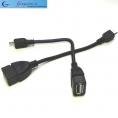 Шнур-переходник для планшетов microUSB на USB (гнездо) OTG, длина- 0,1м
