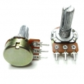 Резисторы переменные моно, под гайку, D=16мм 500Ом (B)