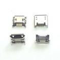 Разъем micro-USB 5pin smd (нижнее крепление (4крепежа), в плату, long pin)