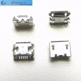 Разъем micro-USB 5pin smd (нижнее крепление, (2крепежа) в плату, short pin)