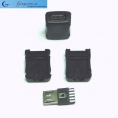 Разъем micro-USB 5 pin ( 3+2 pin, на кабель, с кожухом)